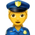 Woman Police Officer on Apple iOS 13.3