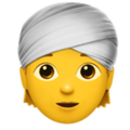 Person Wearing Turban on Apple iOS 13.3