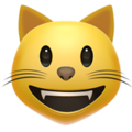Grinning Cat on Apple iOS 13.3