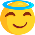 Smiling Face With Halo on Messenger 1.0