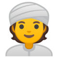Person Wearing Turban on Google Android 10.0