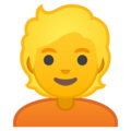 Person: Blond Hair on Google Android 10.0