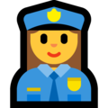 Woman Police Officer on Microsoft Windows 10 May 2019 Update