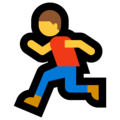 Person Running on Microsoft Windows 10 May 2019 Update