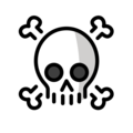 Skull and Crossbones on OpenMoji 12.0