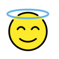 Smiling Face With Halo on OpenMoji 12.0