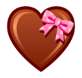 Heart With Ribbon on SoftBank 2014