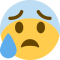 Anxious Face With Sweat on Twitter Twemoji 12.1.4