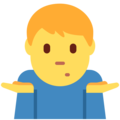 Man Shrugging on Twitter Twemoji 12.1.4