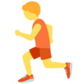 Person Running on Twitter Twemoji 12.1.4