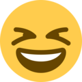 Grinning Squinting Face on Twitter Twemoji 12.1.4