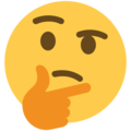 Thinking Face on Twitter Twemoji 12.1.4