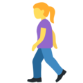 Woman Walking on Twitter Twemoji 12.1.4