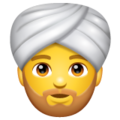 Person Wearing Turban on WhatsApp 2.19.352